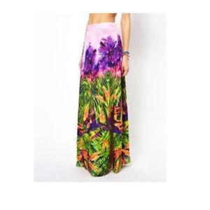 Seafolly oasis samba maxi skirt XS